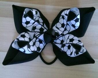 Soccer Hair Bows (1 each)