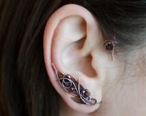 Statement ear cuffs * Non pierced ear cuff * Fairy earcuff * Bohemian ear cuff * Tribal earring * Unique jewelry * For her * Ear wrap earing