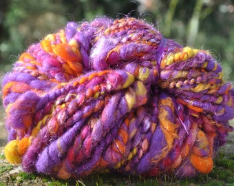 "Skein of wool spun at the spinning wheel ""Vitamin"""