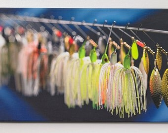 Spinner Baits, fishing art,man cave decor,fishing gifts,guys room decor,fishing art,fishing sign,guy gifts, sports decor,cool gifts for guys