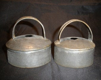 Antique Metal Biscuit Cutters Circa 1900's Kitchen Gadget Cookie Dough Cutter Baking Utensil Hand Forged Collectible