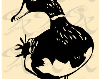 0296_ Vector Duck bird goose,SVG,DXF,AI, png, eps, jpgSilhouette,Download files, Digital, graphical