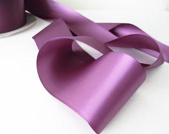 Amethyst Double Face Satin Ribbon /  Purple Ribbon / Ribbon by the yard /