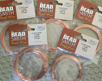 Beadsmith German COPPER bead wire