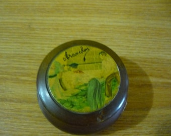 French Vintage Wood Small Box Arcachon Souvenir