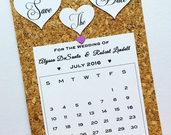 Save The Dates Cork Cards