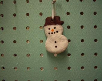 Handmade Snowman Christmas Tree Ornament