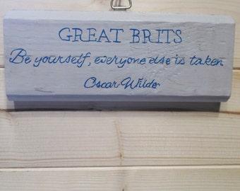 Oscar Wilde Quote plaque | Hanging Plaque