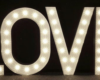 5ft high Marquee light up letters 'LOVE'