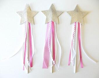 Princess Wands - Star Wands - Glitter Wands - Fairy Wands - Princess Party - Wand Favors - Princess Party Favors - Fairy Party Favors