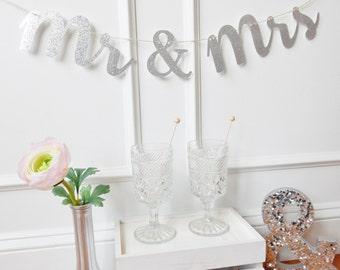Mr & Mrs Banner - Wedding Banner - Wedding Decor - Fairytale Wedding - Sweetheart Table