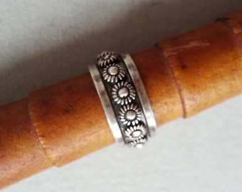 Vintage Mexican 925 Sterling Band Ring