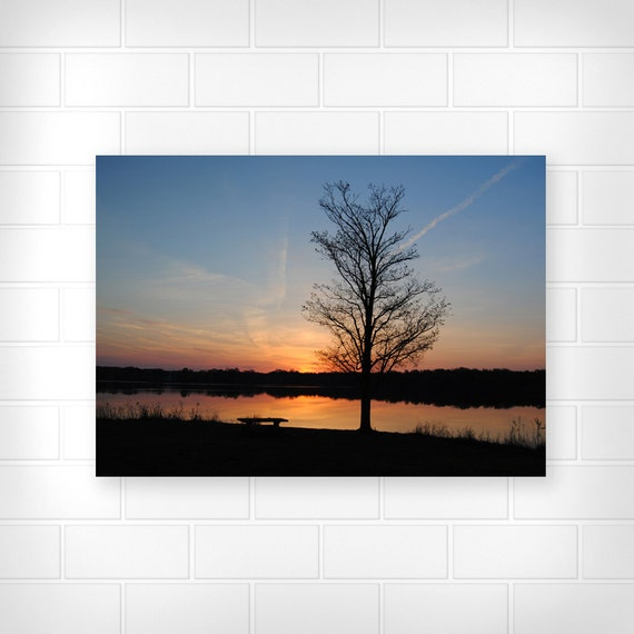 Wall Decor For Lake House : Items similar to lake decor landscape print scenic