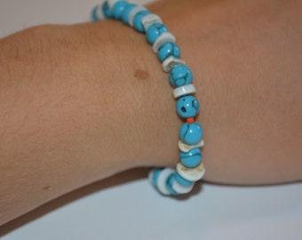 Jade and Shell Beaded Bracelet