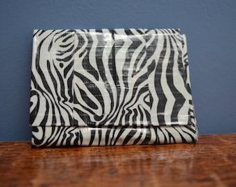 Zebra Print Duct Tape Wallet
