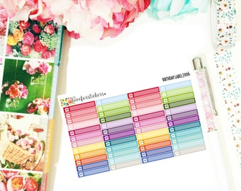Birthday Label (006) // Perfect for ANY planner // Planner Stickers