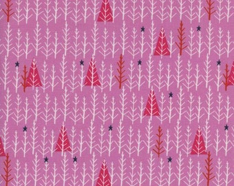 Garland by Cotton + Steel - Tree Day Pink - Cotton Woven Fabric