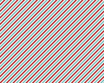 Pixie Noel by Riley Blake - Stripe Red - Cotton Woven Fabric