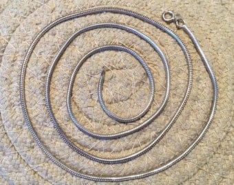 Silver Chain....Sterling Silver Chain...Link Chain....Hippie....Gift...Vintage Chain...Vintage Shop
