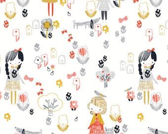 Mori Girl Print Cotton Fabric, Patchwork & Quilting Fabric - Fat Quarter