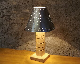 """Lamp collection """"Arty"""" in oak and brushed aluminum"""