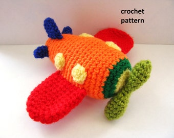 Crochet Airplane Pattern, Crochet Pattern, Airplain Pattern, Airplane Toy, Crochet Toy
