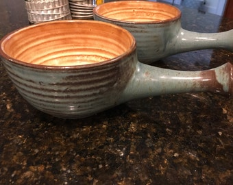 Two French Onion Soup Bowls