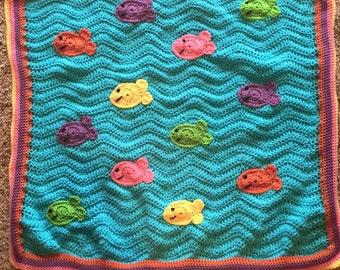 School of Fish Blanket/Play Mat
