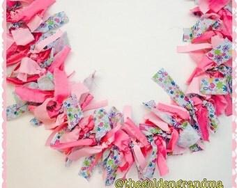Breast cancer awareness Fabric garland