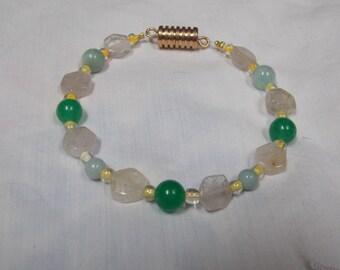 Beaded bracelet,one of a kind Quartz