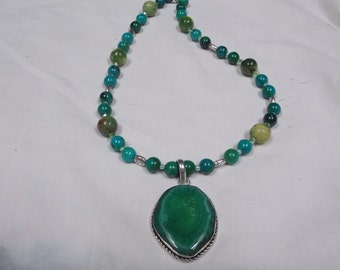 Hand made one of a kind Necklace Chrysocolla