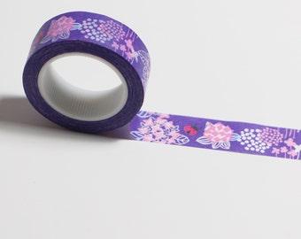 Washi tape flowers purple