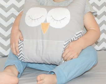 Owl pillow baby toy