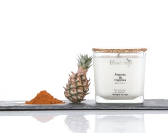 Pineapple and paprika, soy candle