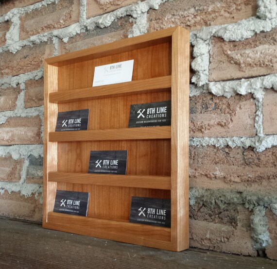 brave wood wall mount business card holder account