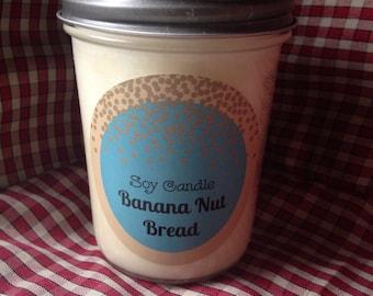 Banana Nut Bread Soy Candle 8 oz.