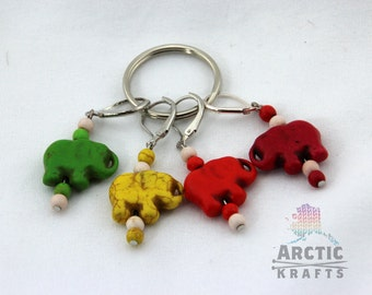 Elephant stitch markers set of 4