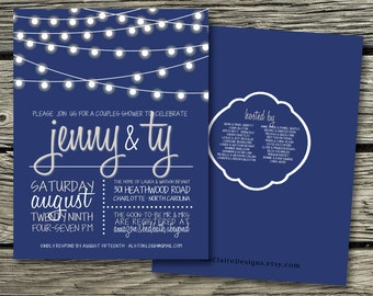 Couples Shower Invitation Digital Download-Whimsical Lights