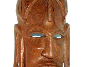 Vintage Tribal Mask Great older Mask with Breathing Holes in the Nose & More