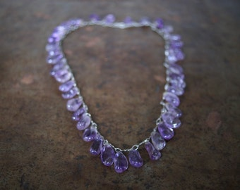 amethysts vintage necklace