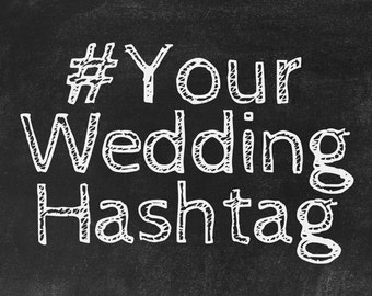 Custom Wedding Hashtags! Unique instagram hashtags created for you and your loved one's special day.
