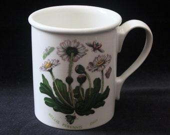 "Pretty Vintage Portmeirion Botanic Garden Daisy Coffee Mug (Bellis Perennis) 3.75"" Pristine"