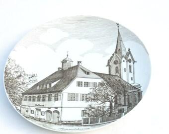 Fürstenberg Plate, Vintage Porcelain Plate, Fürstenberg Collector Plate, Wall Hanging Porcelain Plate, German Porcelain, German Pottery