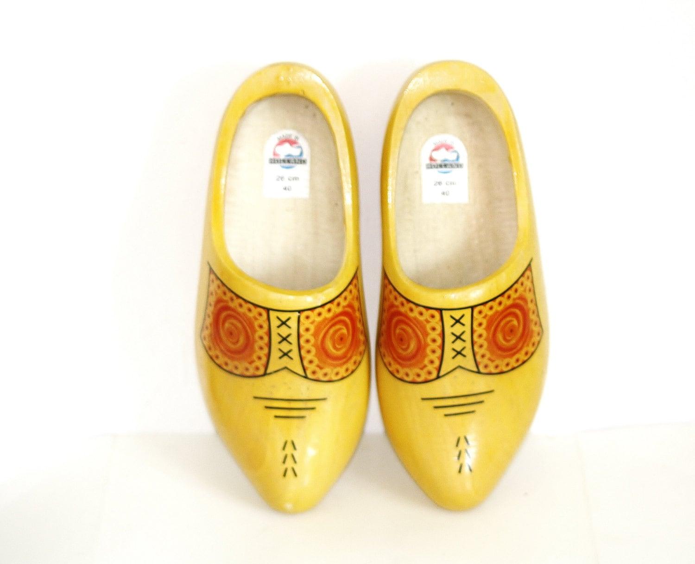 Holland Dutch Shoes Holland Clogs Vintage Dutch Wooden Shoe Hand Painted Wooden Clog Shoe ...