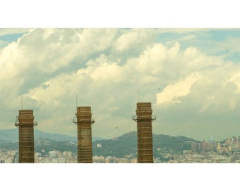 Barcelona Smoke Stacks by richard burns