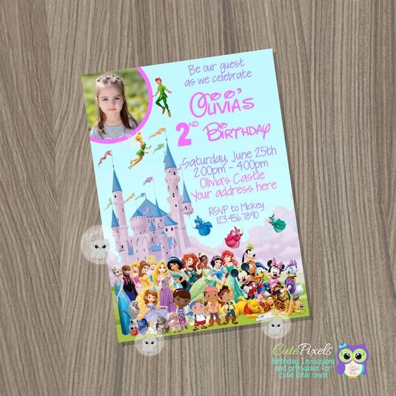 Items Similar To Disney Castle Invitation, Disney