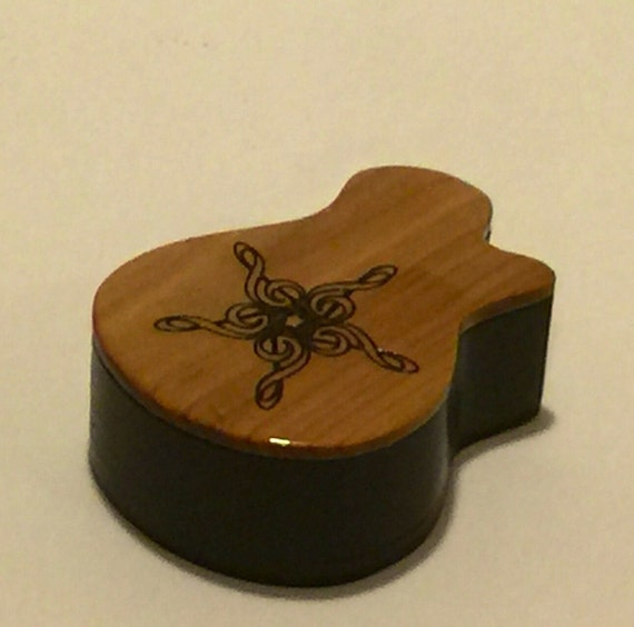 ready to ship wooden guitar pick box shaped by memorabletimbers. Black Bedroom Furniture Sets. Home Design Ideas