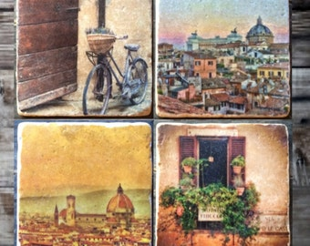 Florence City Life Tile Set x4