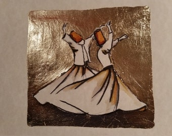 sufi, whirling dervish 5 - handmade