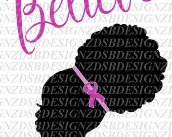 Afro Puff SVG, Afro Puff Girl SVG, Afro Puffs Cut File, Afro Cut file, Breast Cancer Cut File, African American Svg, Afro Svg, Natural hair